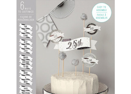 Pop Fizz Clink Cake Topper Decorating Kit