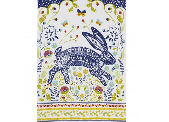 "022WHA Woodland Rabbit ""Hare"" Cotton Tea Towel By Ulster Weavers"