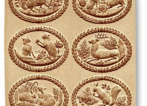 6 pictures dog rabbits... springerle cookie mold by Anis-Paradies 8951