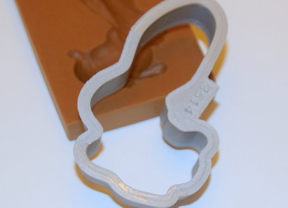 AP C - 3514 Rabbit Silhouette Shaped Cookie Cutter by Gingerhaus APC3514