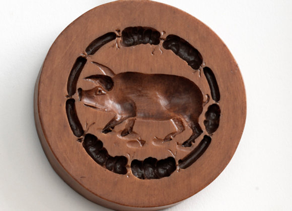 Wienerschnitzel Pig Springerle Cookie Mold by House on the Hill M6235