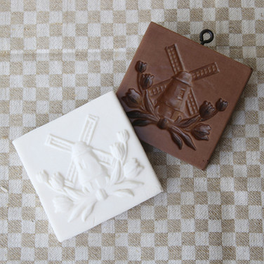 windmill tulips springerle cookie mold w