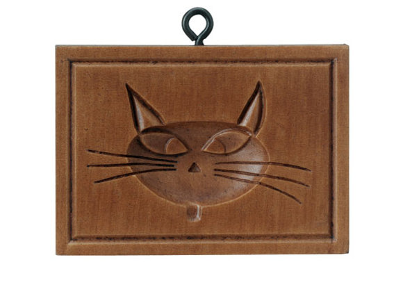 Catty Cat Springerle Cookie Mold by House on the Hill M7938