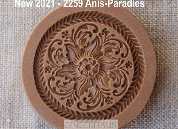 AP 2259 Flower Ornament springerle cookie mold by A