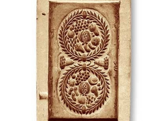Gingerbread Fruit springerle cookie mold by Anise Paradise 8152