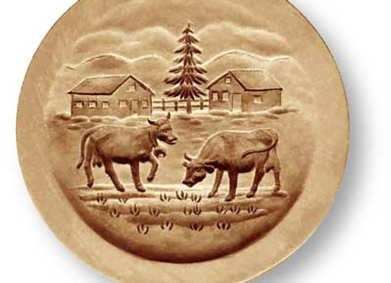 AP 4624 Cows on the Alps springerle cookie mold by Anise Paradise 4624