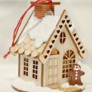Ginger Cottage wooden house ornament