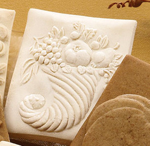 cornucopia springerle cookie mold house