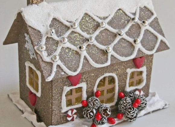 Cottage Glitter House by Gingerhaus