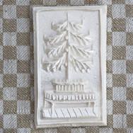 christmas tree on table springerle cooki