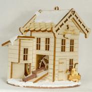 Dog Bone Mill wooden house ornament