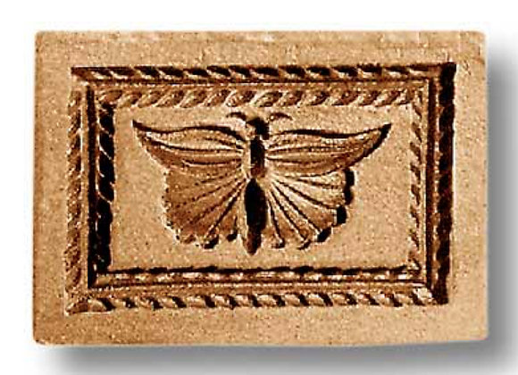 Butterfly with leaf wreath border springerle cookie mold by Anis Paradies 3425