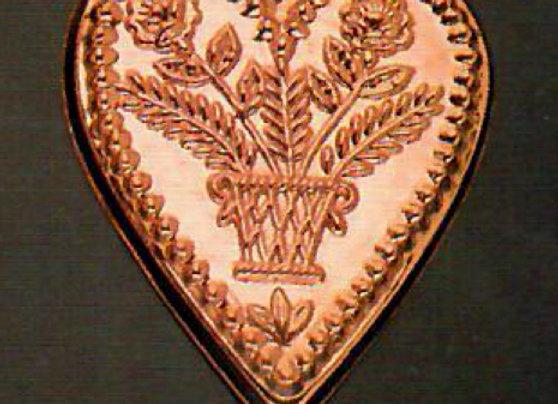 BG 708 Swiss Heart Medium Copper Choclolate Baking Mold by Birth-Gramm BG709