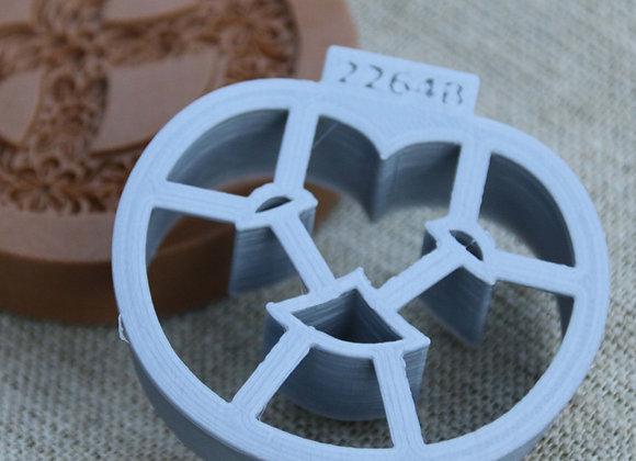 C - AP2264-B Pretzel BRIDGED cookie cutter by Gingerhaus