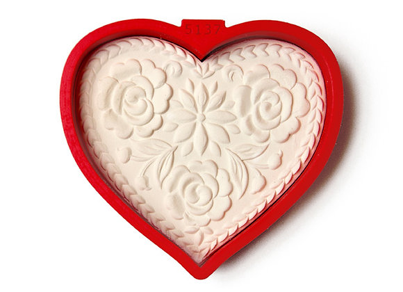 C - 5137 Lotus Flower Heart cookie cutter by Gingerhaus 17237