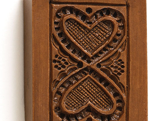 Hearts United Springerle Cookie Mold - House on the Hill M6135