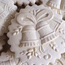 bells springerle cookie mold cookies