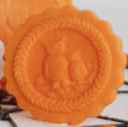 halloween owl witch springerle mold