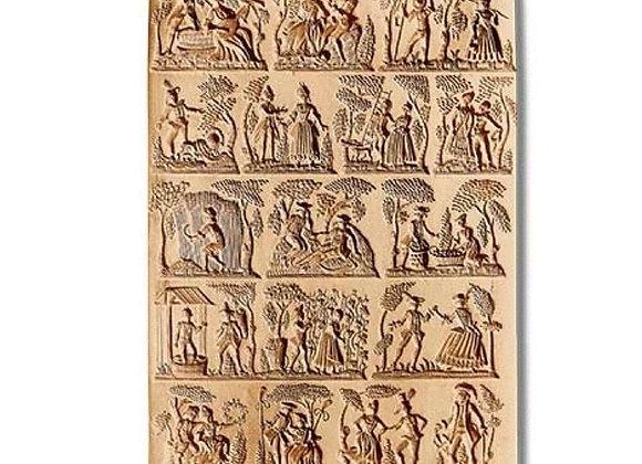 17 pictures Life Panel springerle cookie mold Änis-Paradies 8801