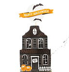 haunted house cake topper celebrations h