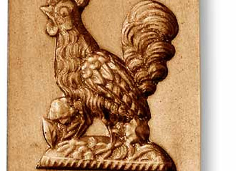 AP-3463 Proud Rooster springerle cookie mold by Anise Paradise