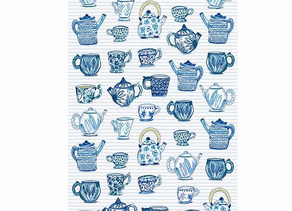 022TCP Teacup Teapot Cotton Tea Towel by Ulster Weavers