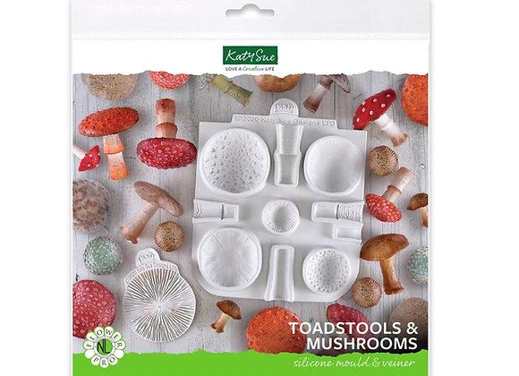 NLC028 Pro Toadstool Mushroom silicone mold by Katy Sue Designs
