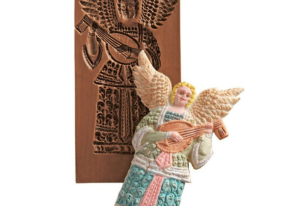 M5312 Angel with Lute Springerle Cookie Mold  by House on the Hill