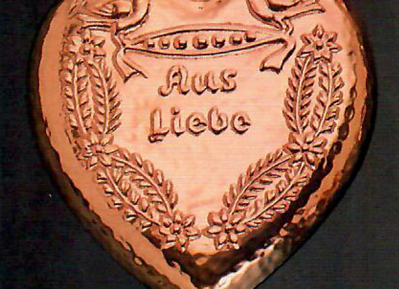 Swiss Heart Au Liebe Copper Choclolate Baking Mold by Birth-Gramm BG704