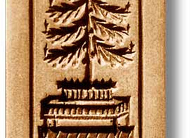 AP1018 Christmas Tree on Table springerle cookie mold by Anis-Paradies