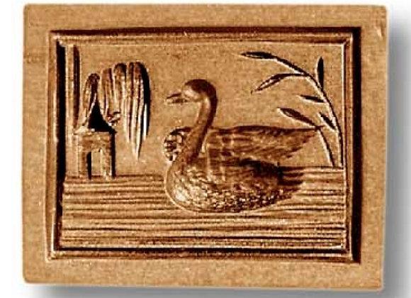 Swan with Pavilion springerle cookie mold by Änis-Paradies 3457