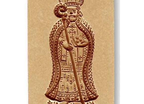 AP 1091 Bishop Saint Nicholas with Staff springerle cookie mold by Anis-Paradies