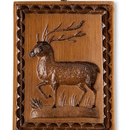 Buck Stag Springerle Mold Gingerbread