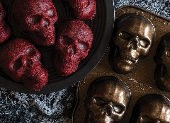 Haunted Skull bundt cakelet pan by Nordic Ware 89448