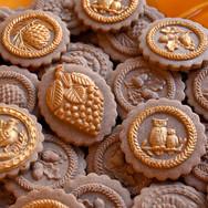 fall springrele cookies pine cone turkey