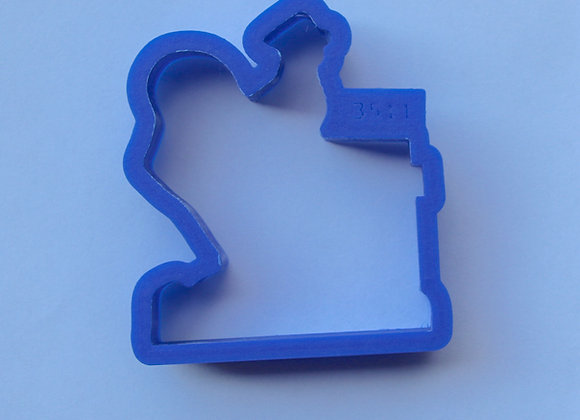 AP C - 3511 Rooster and Hen cookie cutter by Gingerhaus