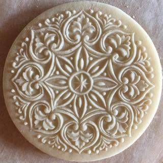 1671 heart ornament springerle cookie mo
