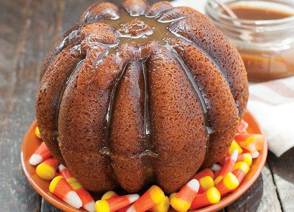 3-D Pumpkin Duet bundt cake pan by Nordic Ware 84548