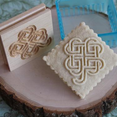 shamrock springerle cookie mold wooden