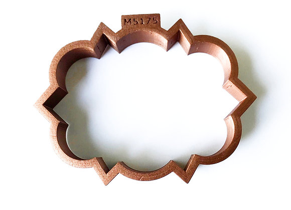 C-M5175 Plaque Wedding Symbols cookie cutter by Gingerhaus