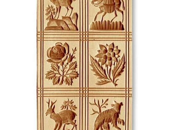 6 pictures chamois, donkey... springerle cookie mold by Anis-Paradies 8945