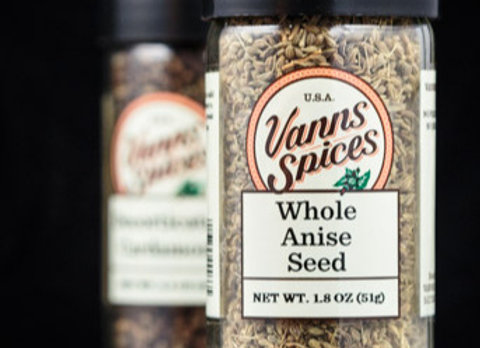 Anise Seed, Whole by Vanns Spices 1.8 oz 00043