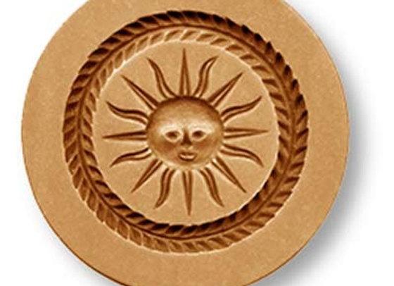 Sun with Wreath Border Springerle Cookie Mold by Anise Paradise 7151