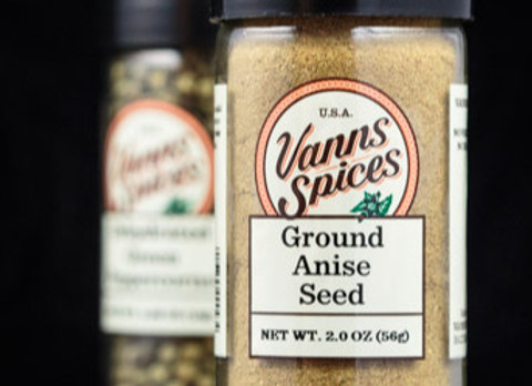 Anise Seed, Ground by Vanns Spices 2.0 oz 00043