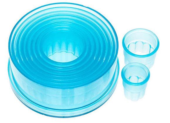 9 Piece Fluted Circle Cutter Set