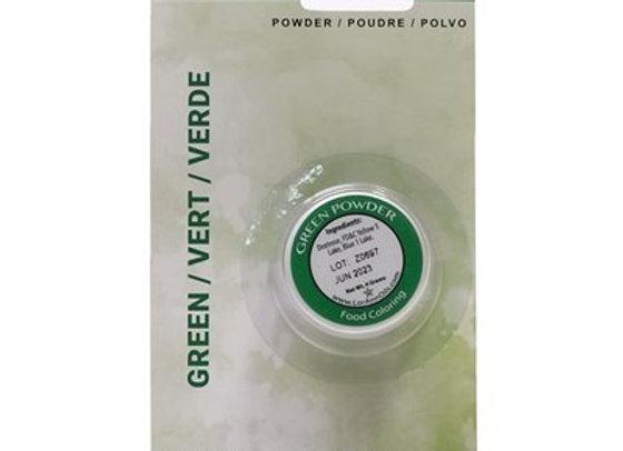Green Powder Food Color 1/2 oz.  by LorAnn Oils 1320-0400
