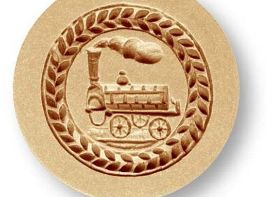 Locomotive Train round springerle cookie mold by Anis-Paradise 04095