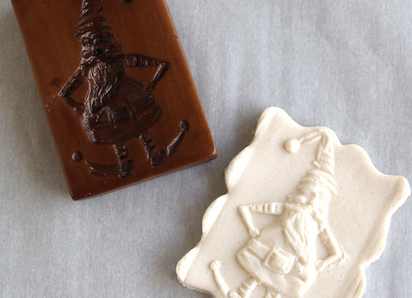 GH11961 Gnome Elf springerle cookie mold by Gingerhaus