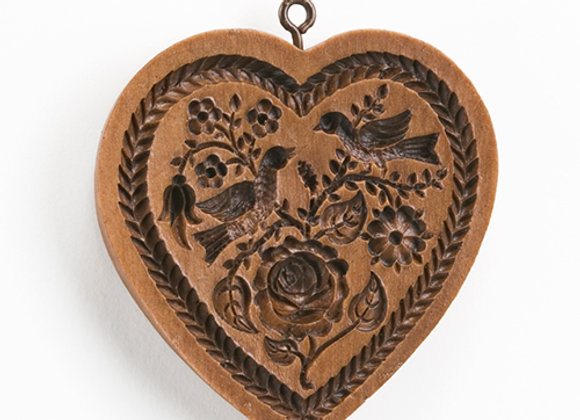 Rose Heart Springerle Cookie Mold by House on the Hill M5079