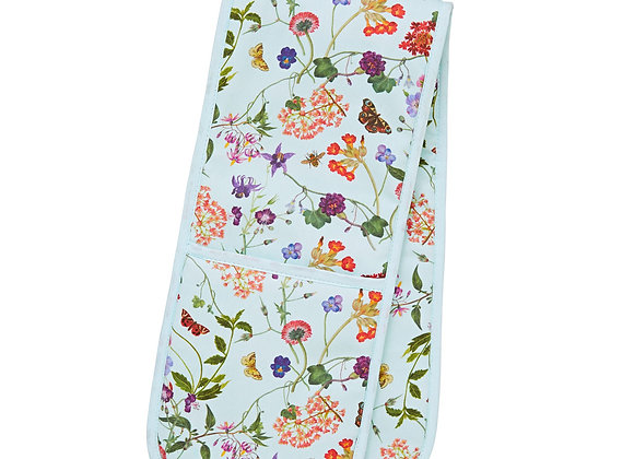 7MDW03 RHS Spring Floral Double Glove Oven Mitt by Ulster Weavers